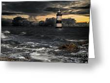 The Lighthouse Storm Greeting Card