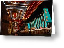 The Lights Are On In Las Vegas Greeting Card