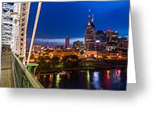 The Lights Of Music City Greeting Card