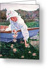 The Lily Gatherer Greeting Card by David Lloyd Glover