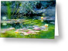 The Lily Pond I Greeting Card