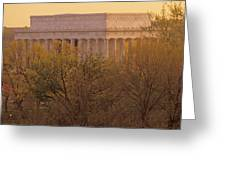 The Lincoln Memorial, Seen Greeting Card