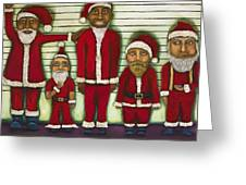 The Line Up Greeting Card