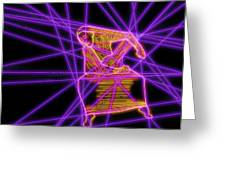 The Lines Of Martha Graham L Tech Greeting Card