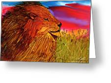 The Lion King Of Massai Mara Greeting Card