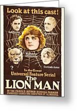 The Lion Man 1919 Greeting Card