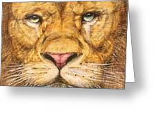The Lion Roar Of Freedom Greeting Card