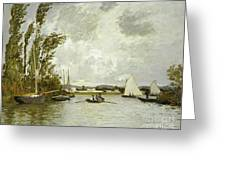 The Little Branch Of The Seine At Argenteuil Greeting Card
