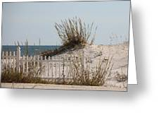 The Little Dune And The White Picket Fence Greeting Card