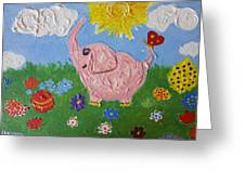Little Pink Elephant Greeting Card