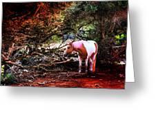 The Little Pink Unicorn By Pedro Cardona Greeting Card