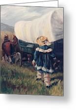 The Little Pioneer Western Art Greeting Card
