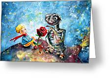 The Little Prince And E.t. Greeting Card