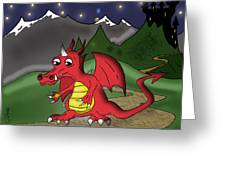 The Little Red Dragon Greeting Card