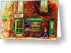 The Little Red Wagon Greeting Card