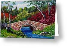 The Little Stone Bridge Greeting Card