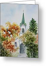The Little White Church Greeting Card by Bobbi Price