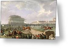 The Liverpool And National Steeplechase At Aintree Greeting Card