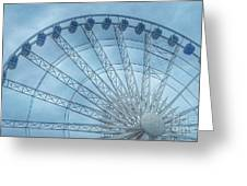 The Liverpool Wheel In Blues 2 Greeting Card