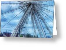 The Liverpool Wheel In Blues 3 Greeting Card