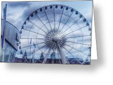 The Liverpool Wheel In Blues Greeting Card