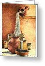 The Living Water Greeting Card by Denise Armstrong
