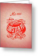 The Lobster Pot 1960s Greeting Card