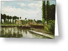 The Lock At Pontoise Greeting Card