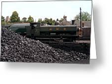 The Locomotive Yard Greeting Card