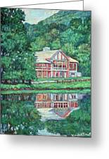 The Lodge At Peaks Of Otter Greeting Card by Kendall Kessler
