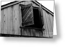 The Loft Door In Black And White Greeting Card