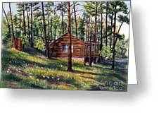 The Log Cabin Greeting Card