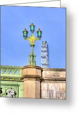 The London Eye And Westminster Bridge Greeting Card