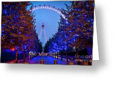 The London Eye At Night Greeting Card by Donald Davis