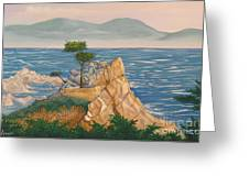 The Lone Cypress Tree Greeting Card