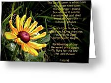 The Lone Flower Greeting Card