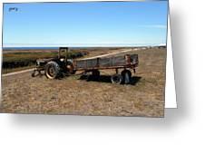 The Lone Wagon Greeting Card
