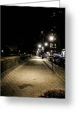 The Lonely Street By Central Park Ny Greeting Card