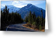 The Long And Winding Road Greeting Card by Larry Ricker