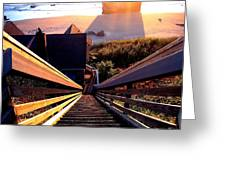 The Long Long Stairway    Greeting Card