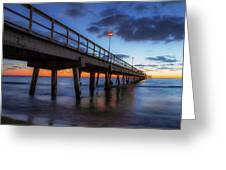 The Long Pier Greeting Card