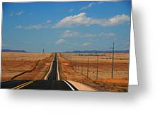 The Long Road To Santa Fe Greeting Card