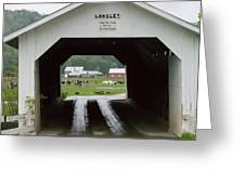 The Longley Covered Bridge Greeting Card