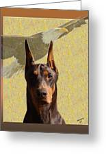 Dobermans..the Look Of The Eagle Greeting Card