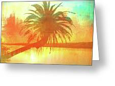 The Loop Palm Textured Greeting Card