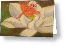 The Lotus And The Dragonfly Greeting Card