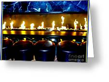 The Lounge Fireplace Greeting Card