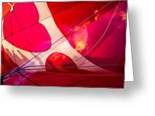 Hearts A' Fire - The Love Hot Air Balloon Greeting Card