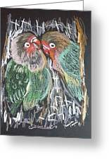 The Love Birds Greeting Card