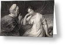 The Love Letter Engraved By Charles Greeting Card